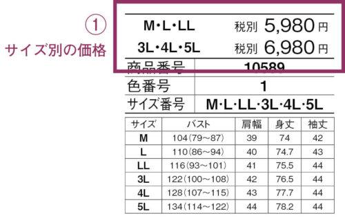 InDesign:XMLで組版する表組み1 サイズ別の価格