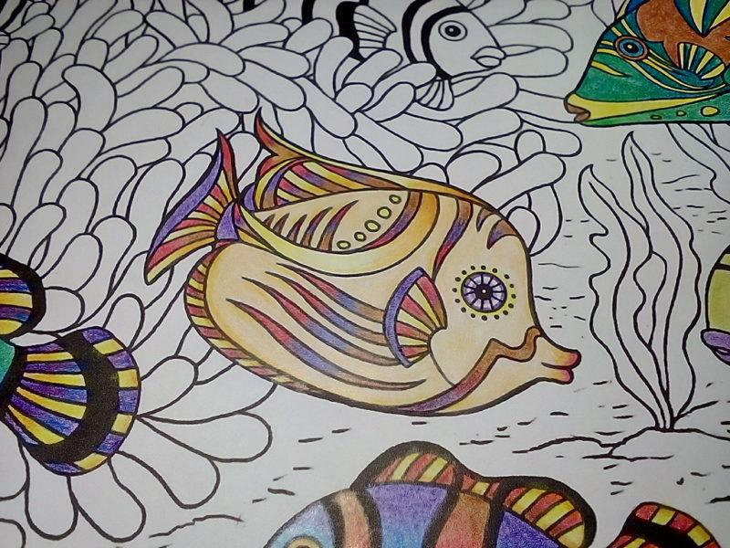 ダイソー癒しの塗り絵マリンライフ グラデーション
