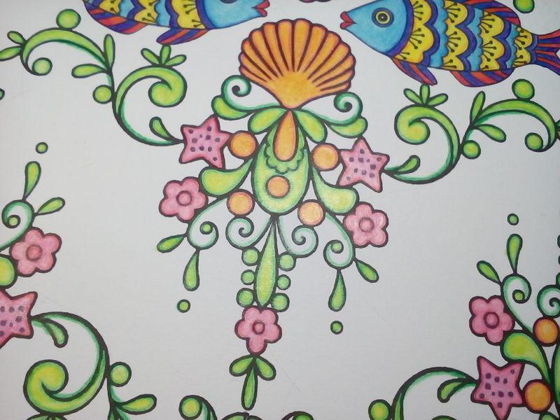 ダイソーの癒しの塗り絵 マリンライフ
