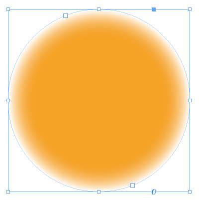 InDesignで作成したグラデーションのオブジェクト