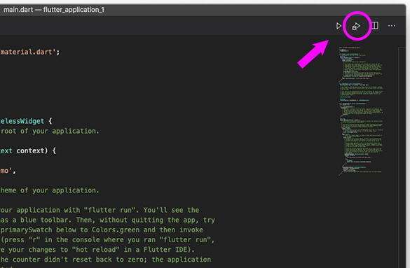VSCodeでFlutterプロジェクトをデバッグする