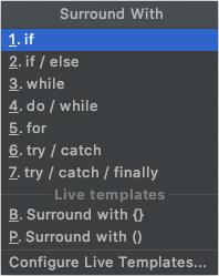 AndroidStudioのショートカット:上位階層を追加する(条件分岐)