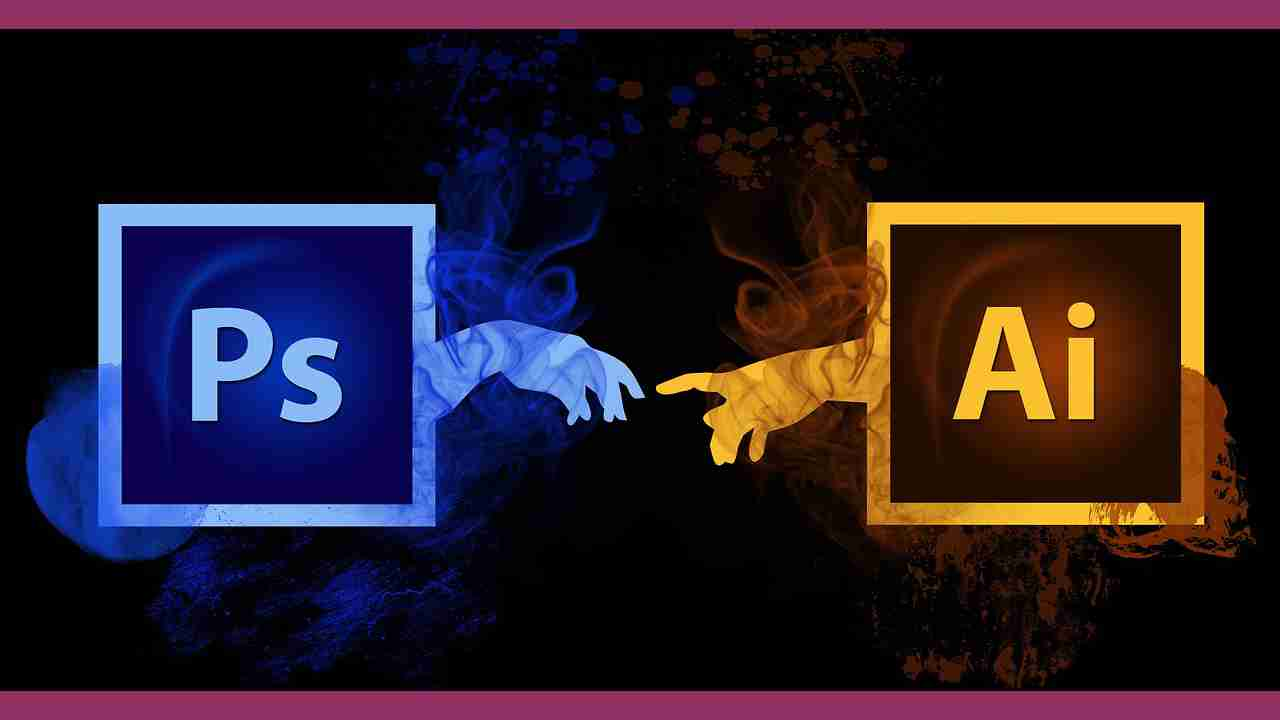 Adobe PhotoshopとIllustratorのロゴマーク
