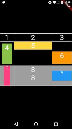 FlutterのTable Widgetで作成した表